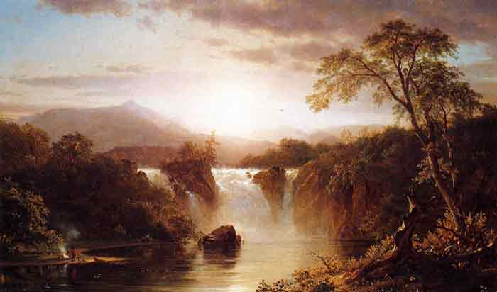 Landscape with Waterfall, 1858