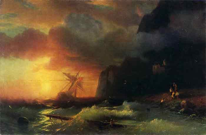 Shipwreck off Mount Athos, 1856