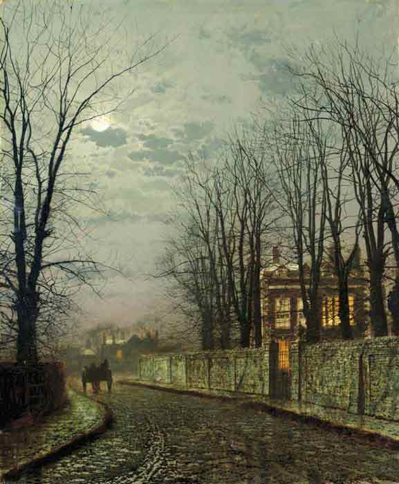 A Wintry Moon, 1886
