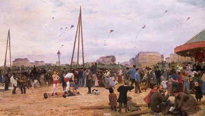 The Fairgrounds at Porte de Clignancourt, Paris, 1895