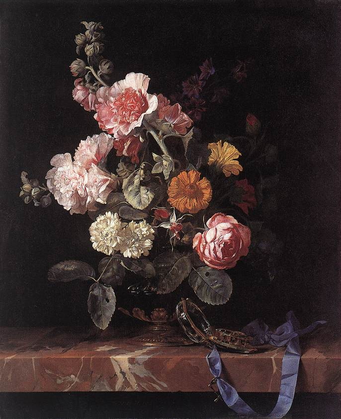 Vase of Flowers with Watch