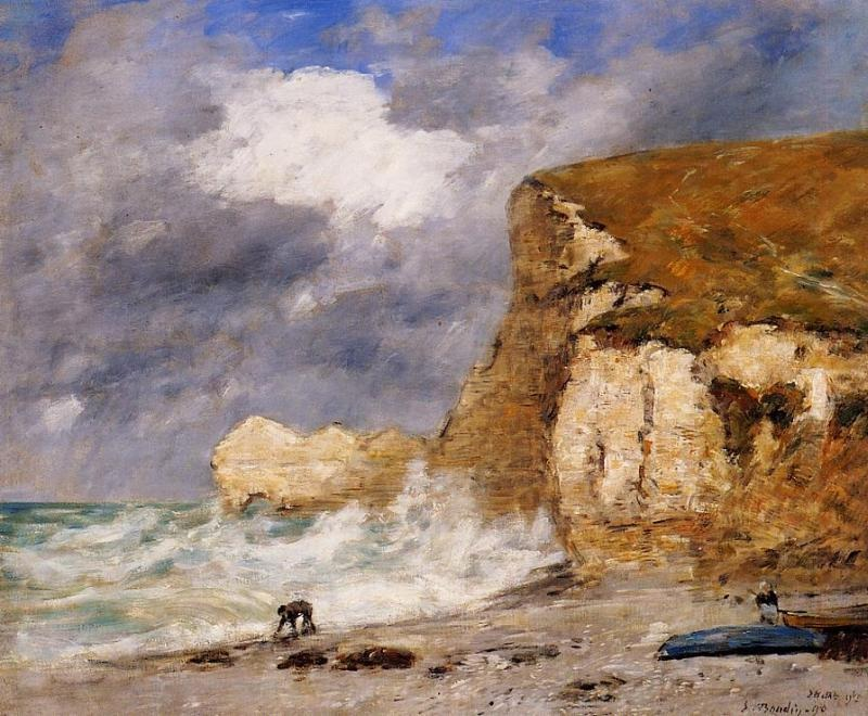 Etretat - The Amont Cliff in November