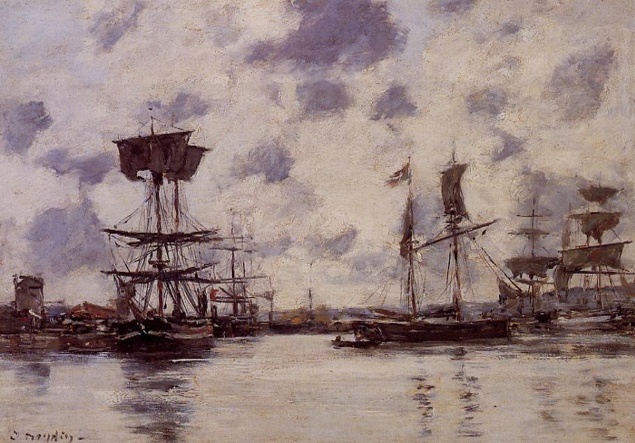 Sailing Boats at Anchor