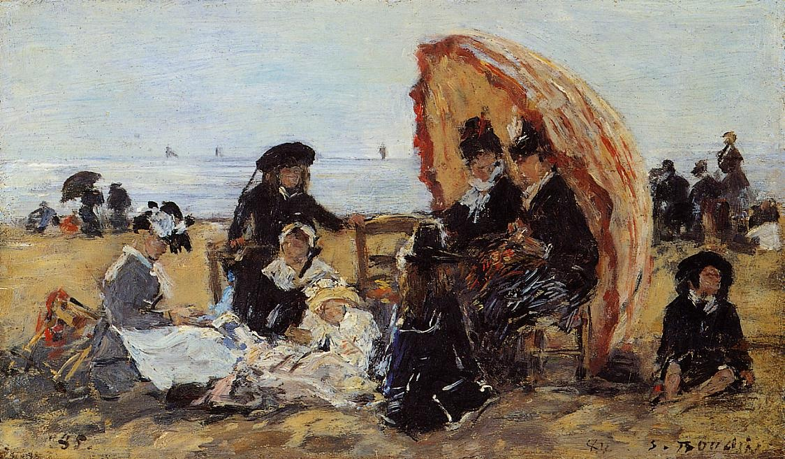 Trouville, on the Beach Sheltered by a Parasol