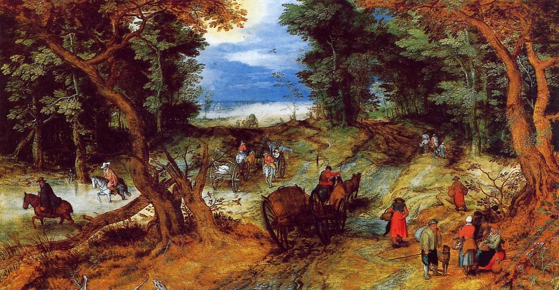 Forest Landscape with Travellers