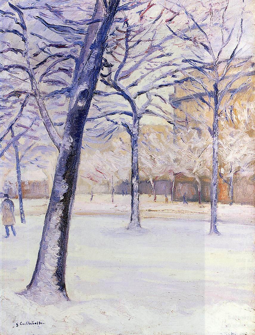 Park in the Snow, Paris