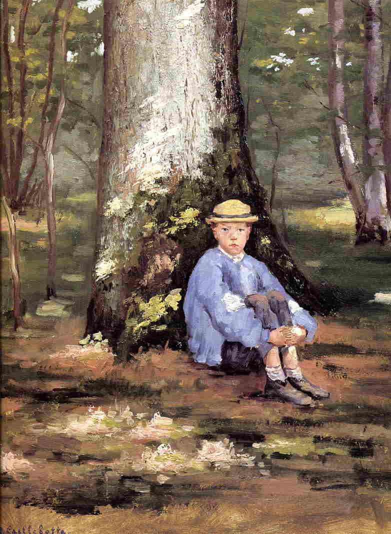 Yerres, Camille Daurelle under an Oak Tree