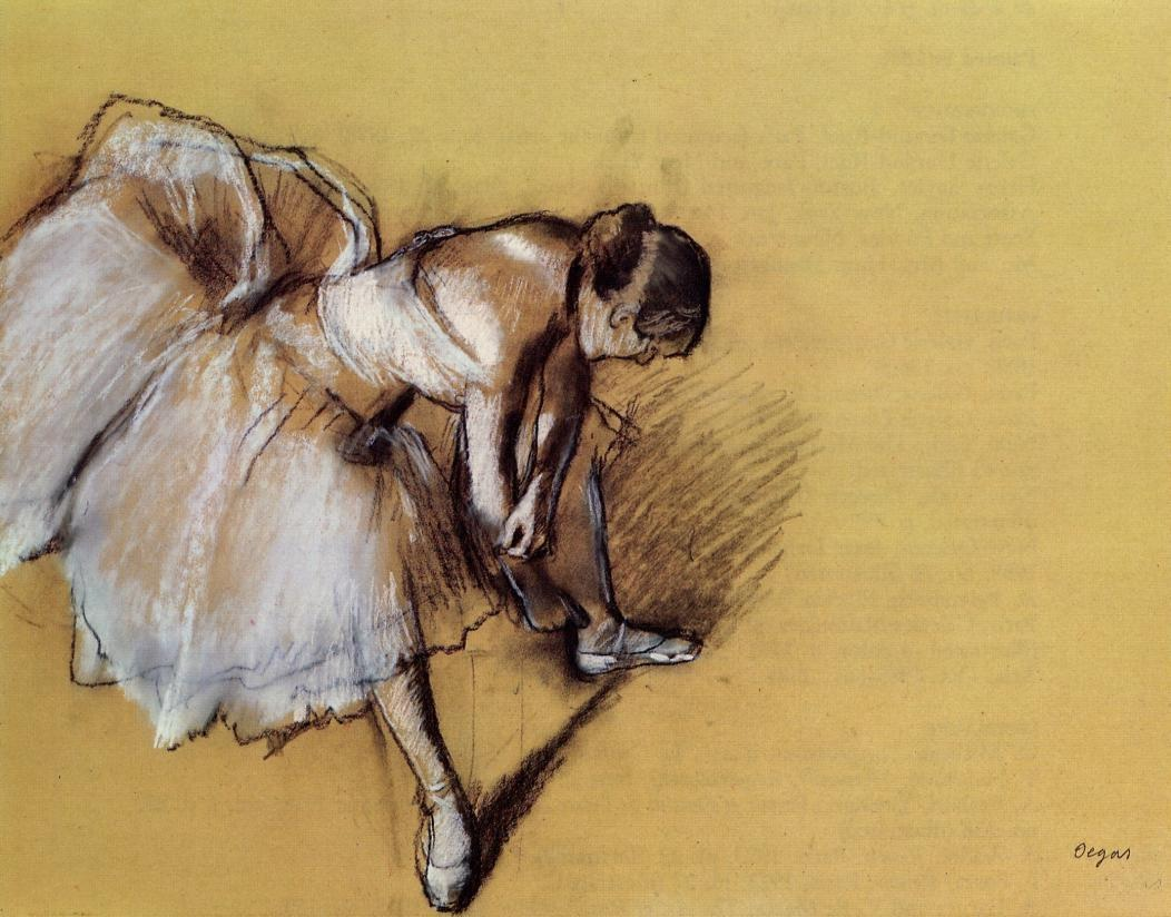 Dancer Adjusting Her Slipper
