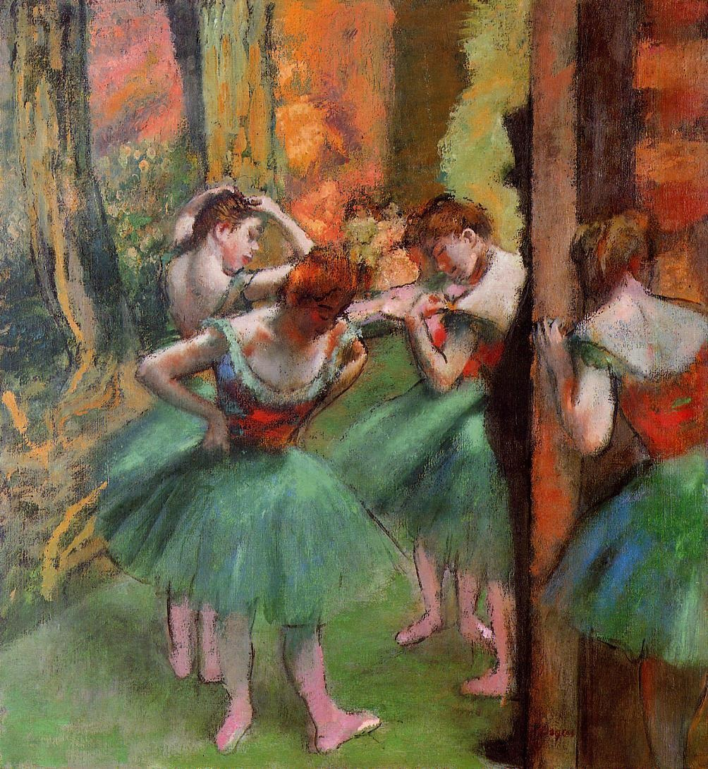 Dancers, Pink and Green 1