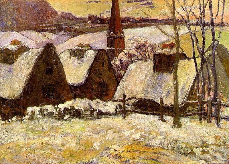 Breton Village in the Snow
