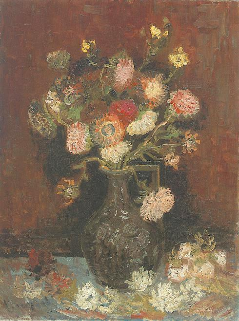 Vase with Asters and Phlox