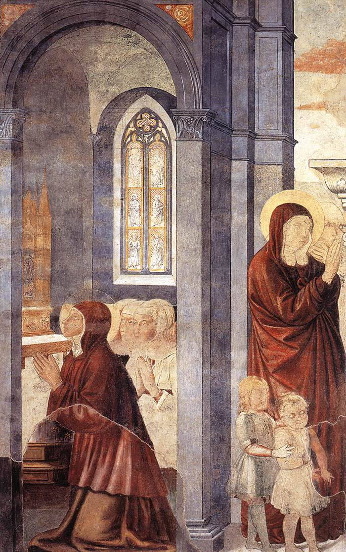 St Augustine Cycle - Leaving his Mother