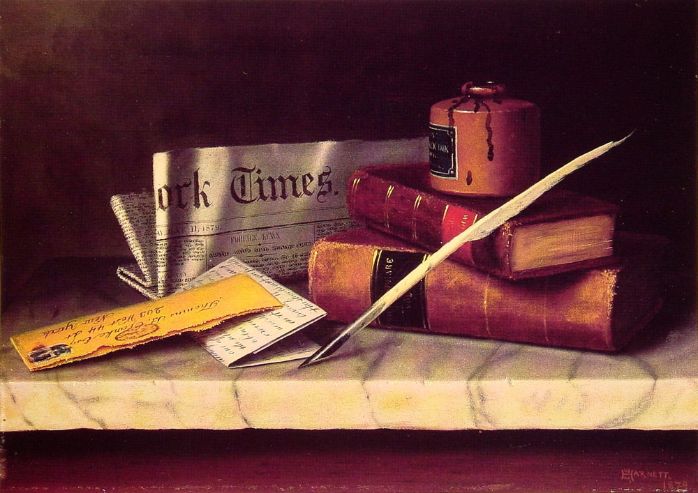 Still Life with Letter to Thomas B. Clarke