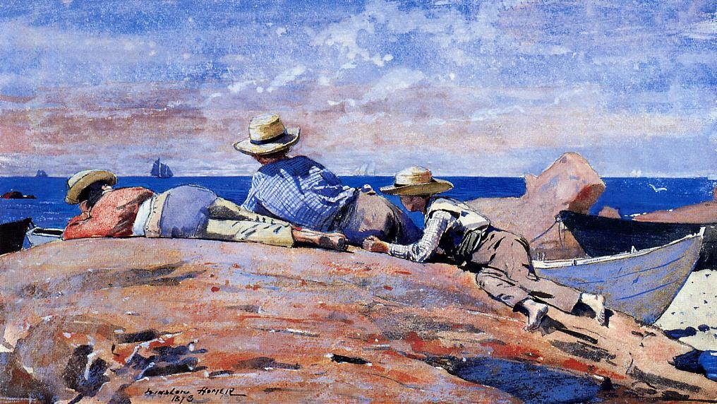 Three Boys on the Shore