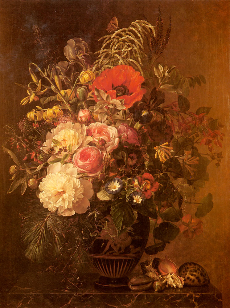 A Still Life with Flowers in a Greek Vase
