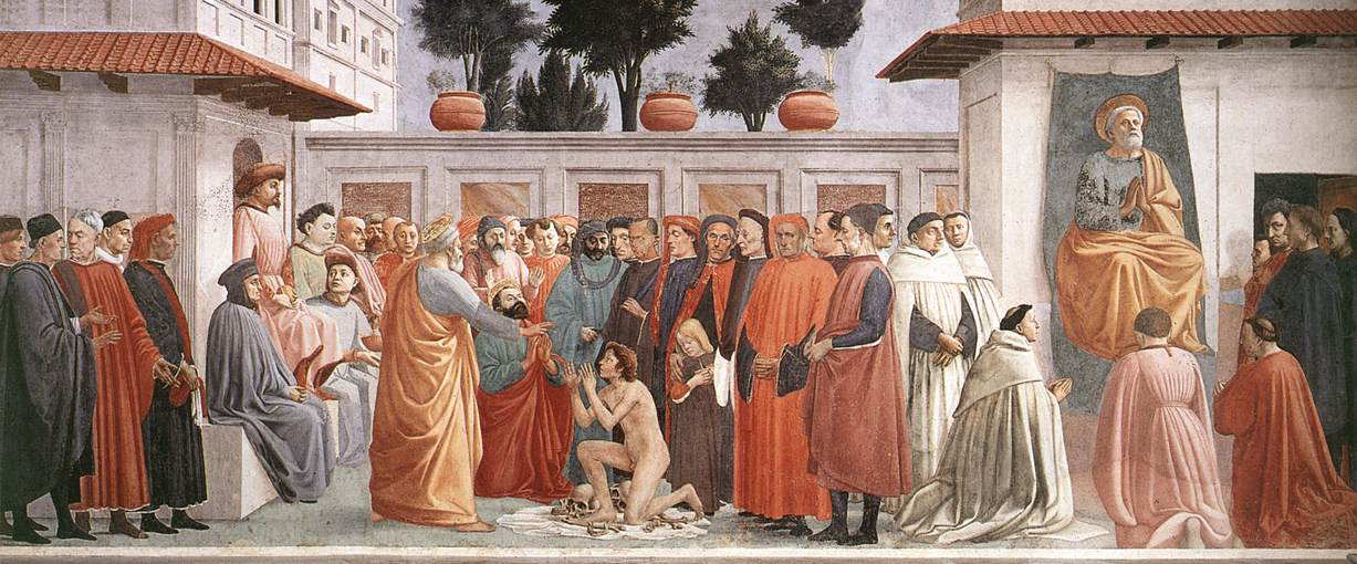 The Raising of the Son of Theophilus and St Peter Enthroned