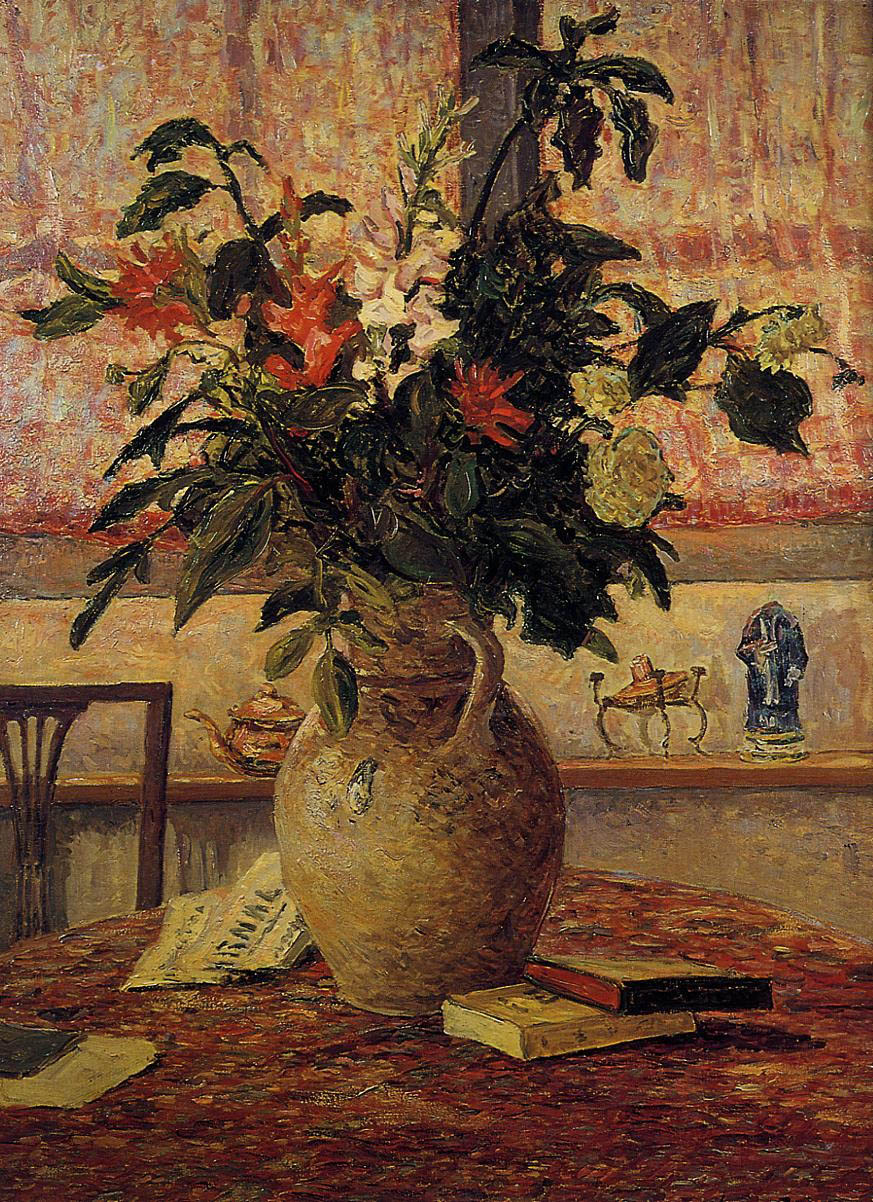 A Bouquet of Flowers in front of a Window