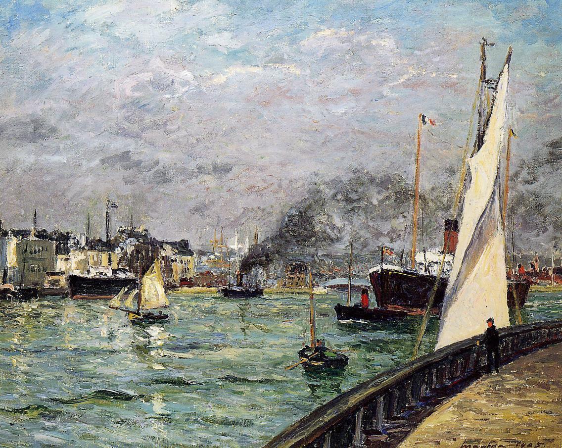 Departure of a Cargo Ship, Le Havre