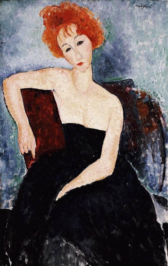 Young Readhead in an Evening Dress
