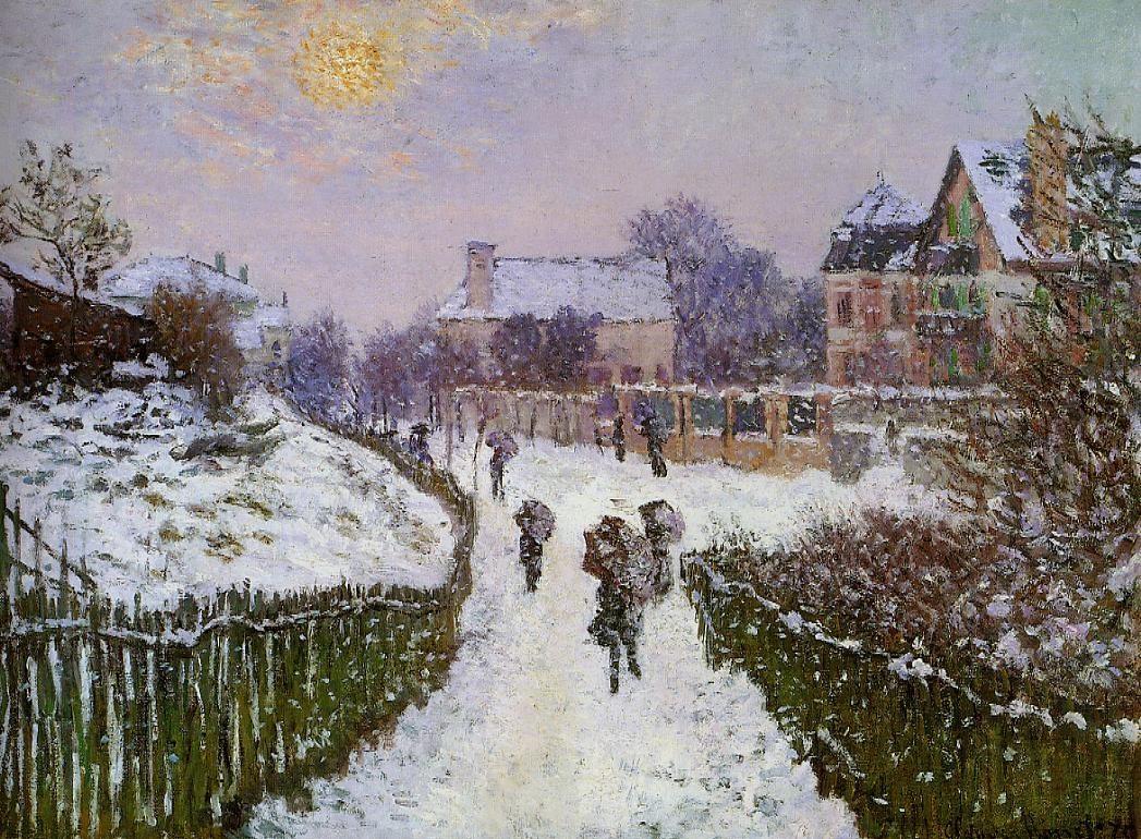 Boulevard St Denis, Argenteuil, Snow Effect