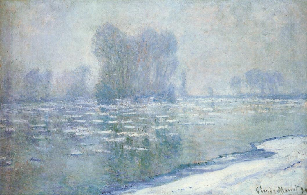 Ice Floes, Misty Morning