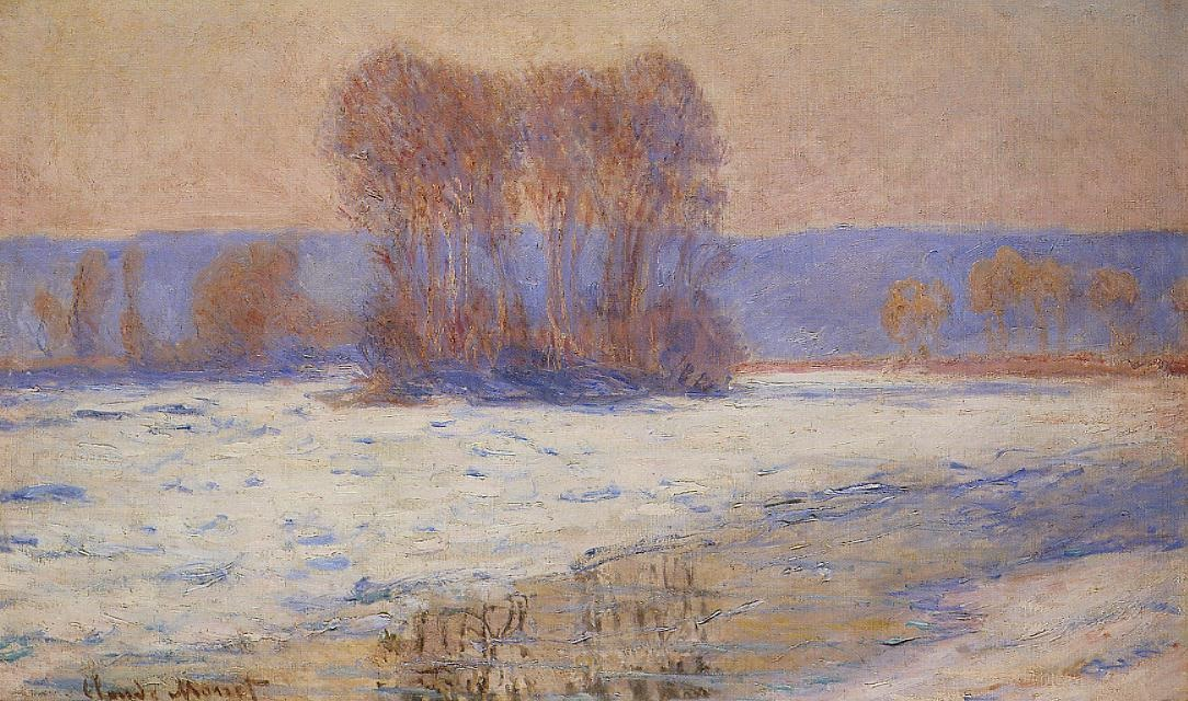 The Seine at Bennecourt in Winter