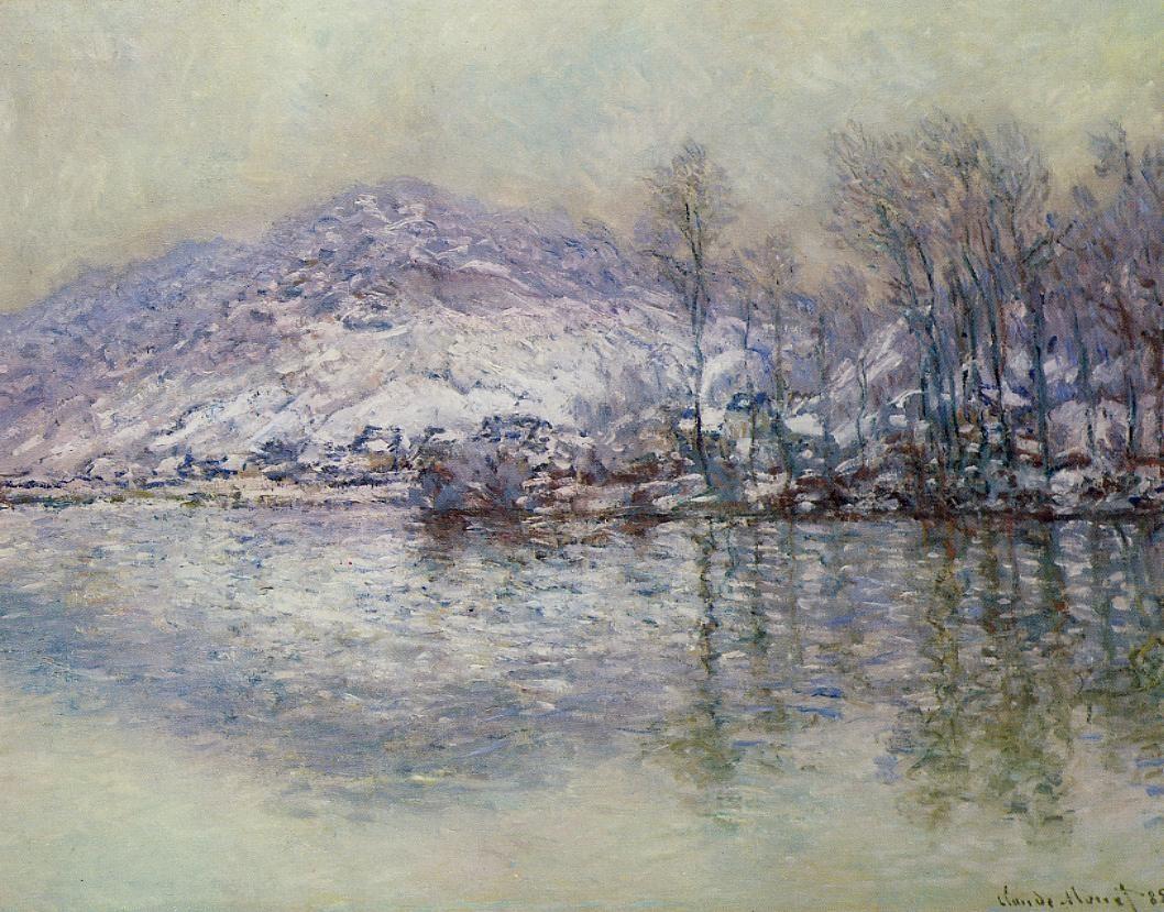 The Seine at Port Villez, Snow Effect