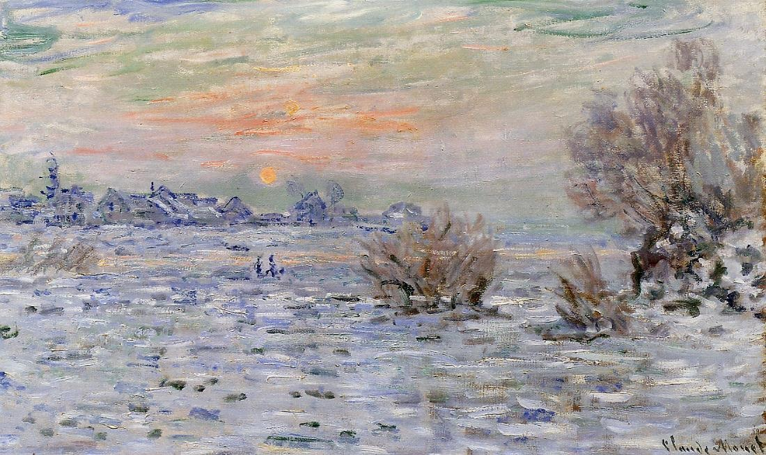 Winter on the Seine, Lavacourt