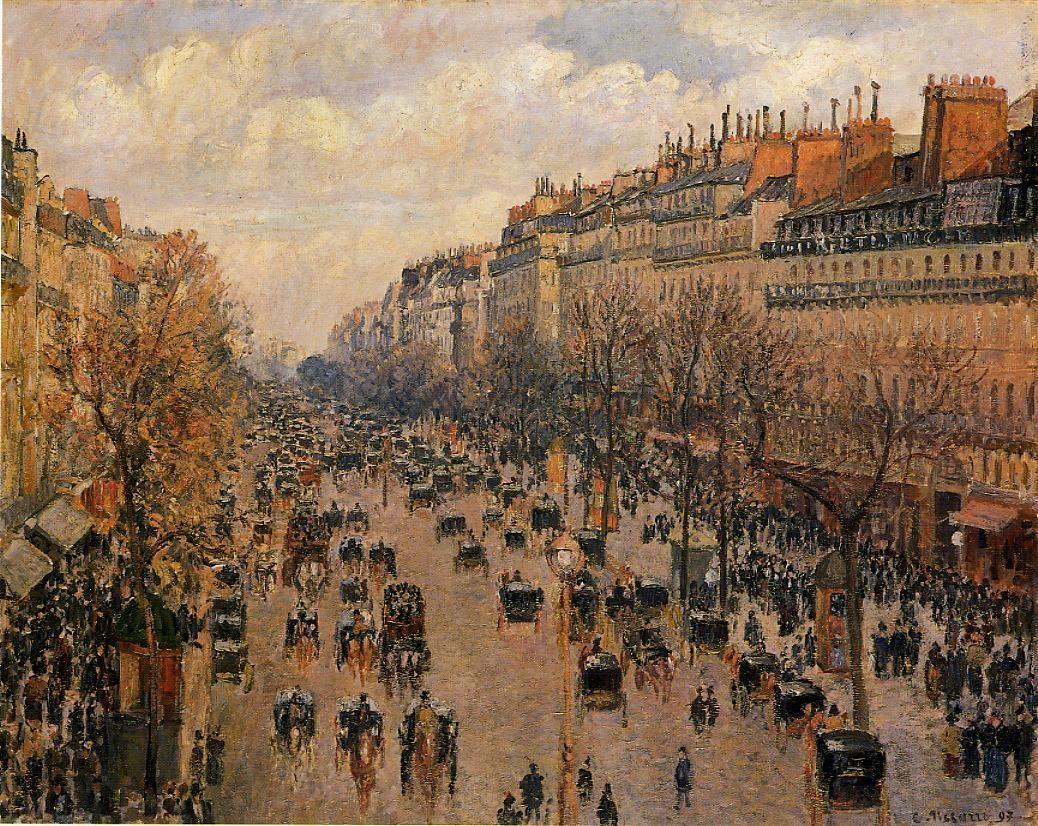 Boulevard Montmartre - Afternoon, Sunlight