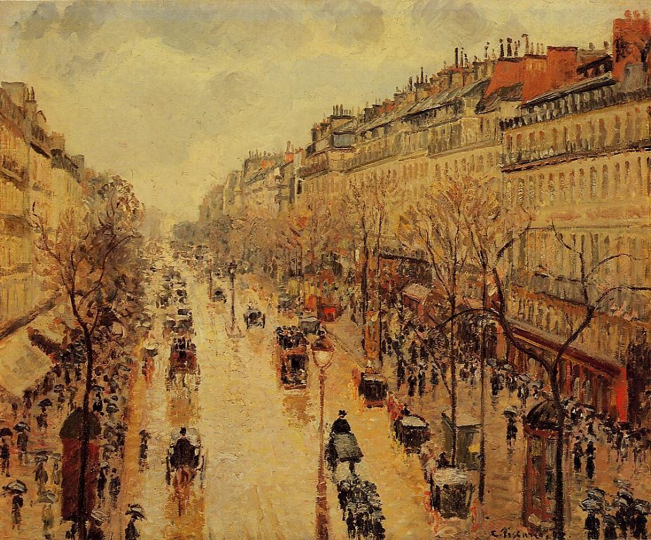 Boulevard Montmartre - Afternoon, in the Rain