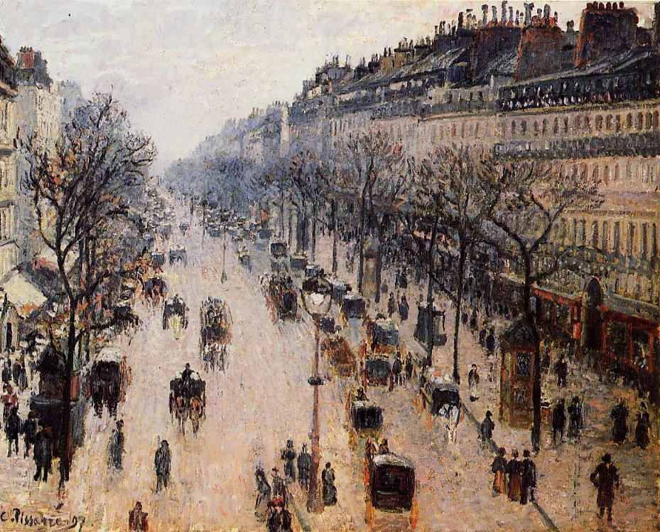 Boulevard Montmartre - Winter Morning