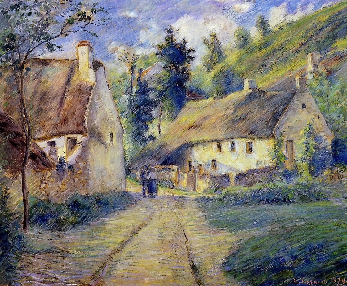 Cottages at Auvers, near Pontoise