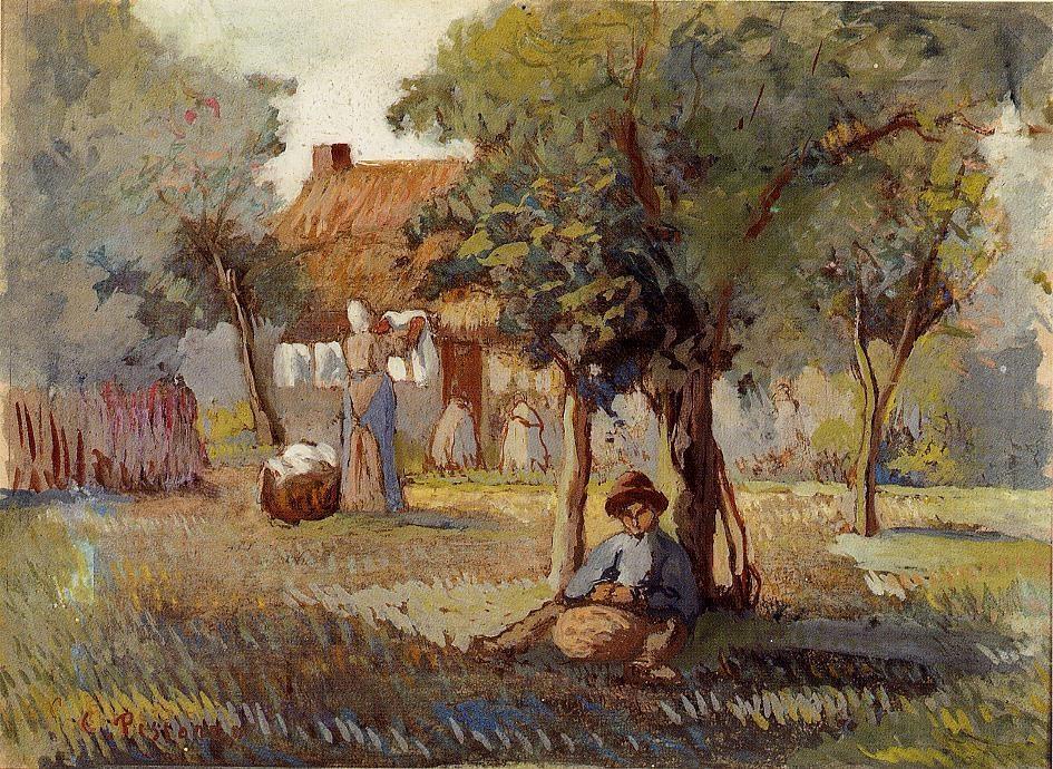 Family Garden oil painting