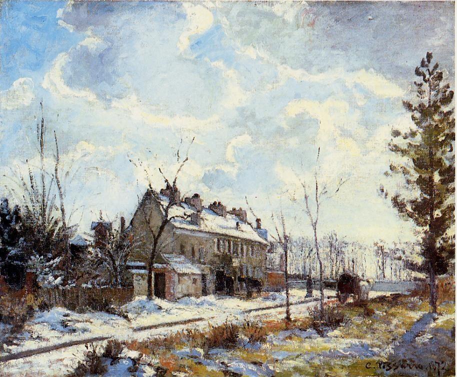 Louveciennes Road - Snow Effect