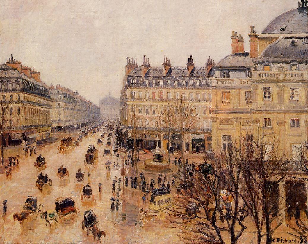 Place du Theatre Francais - Rain Effect