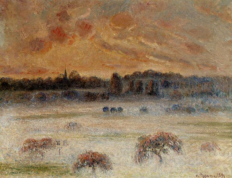 Sunset with Fog, Eragny
