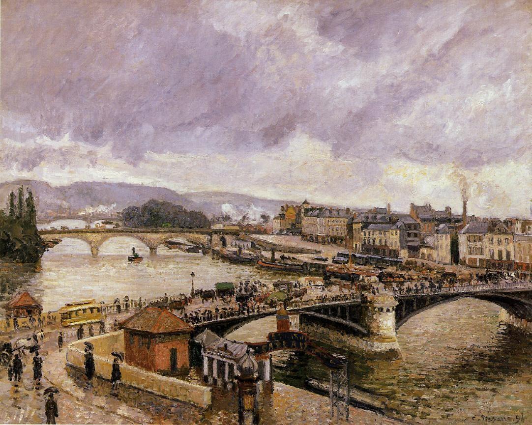 The Boieldieu Bridge, Rouen - Rain Effect