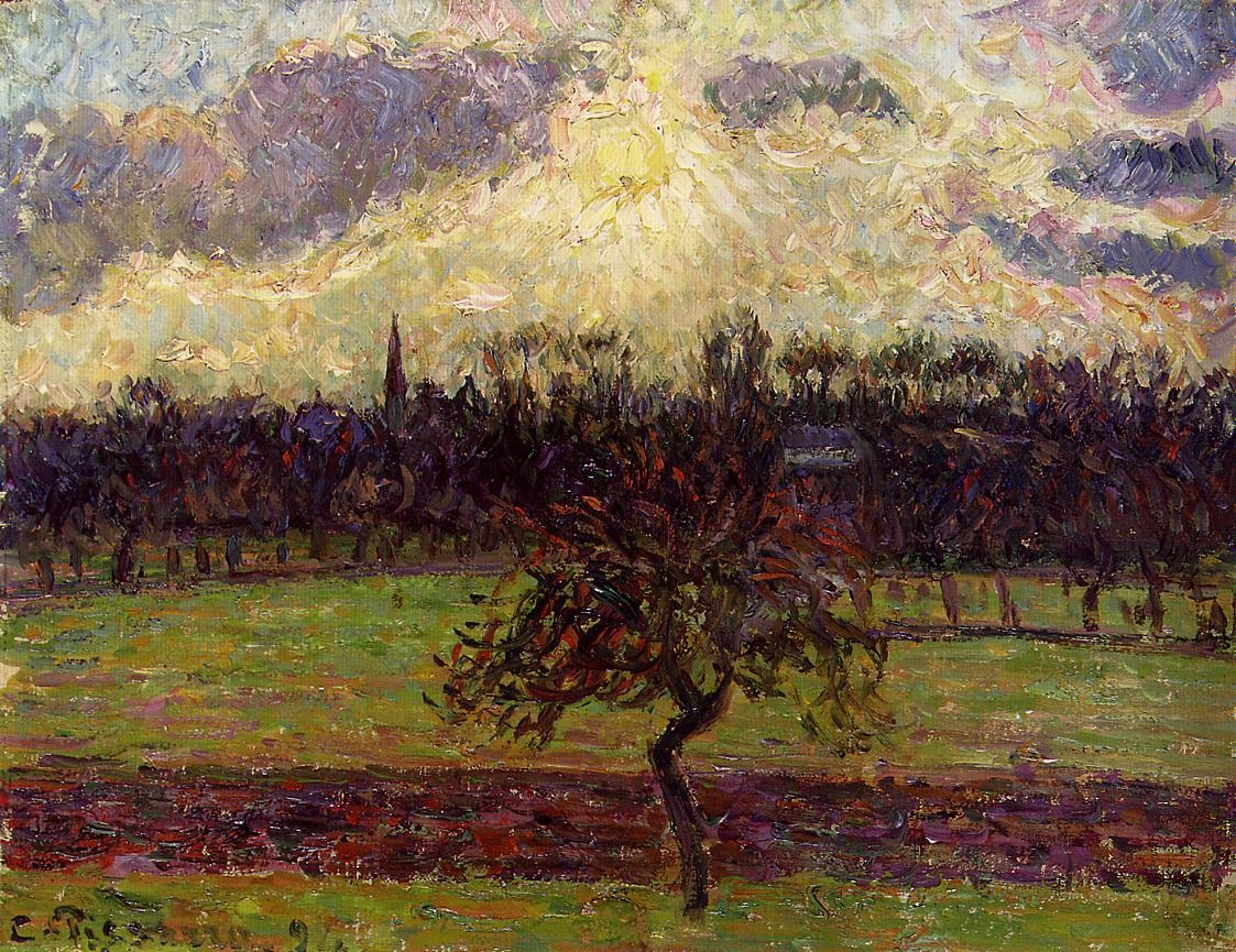 The Fields of Eragny, the Apple Tree