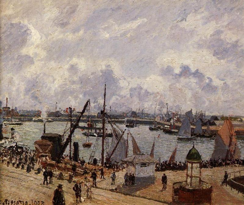 The Inner Harbor, Le Havre - Morning Sun, Rising Tide
