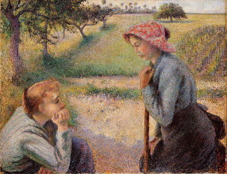 Two Peasant Woman Chatting