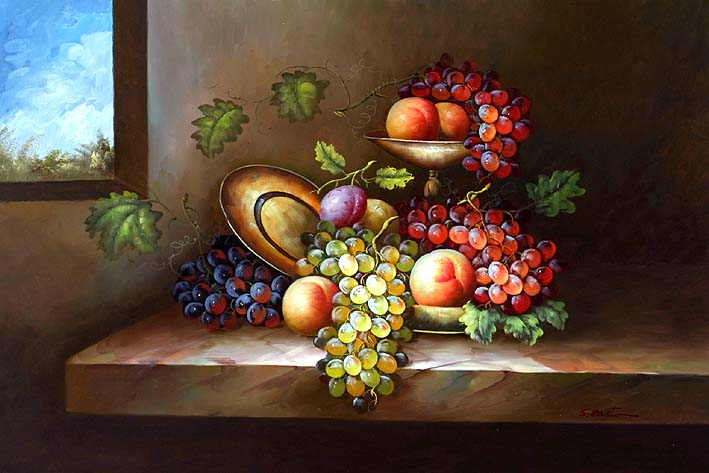 Fruit Still Life,oil painting supplies