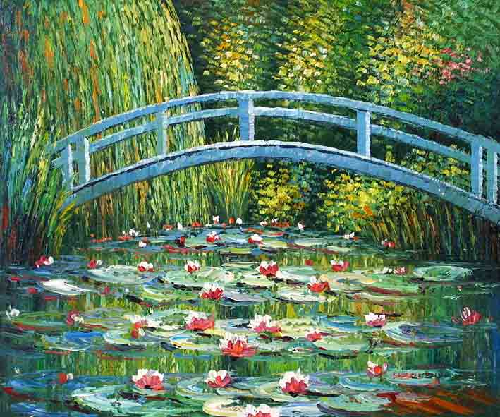 Japanese Bridge,oil painting supplies