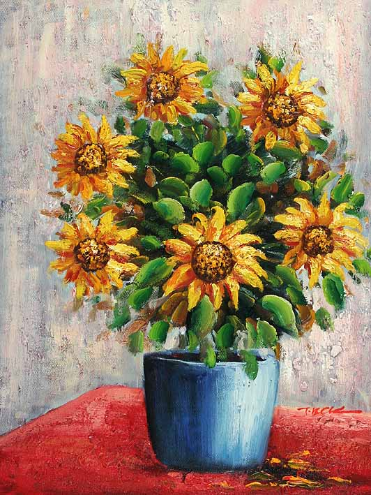 Potted Sunflowers