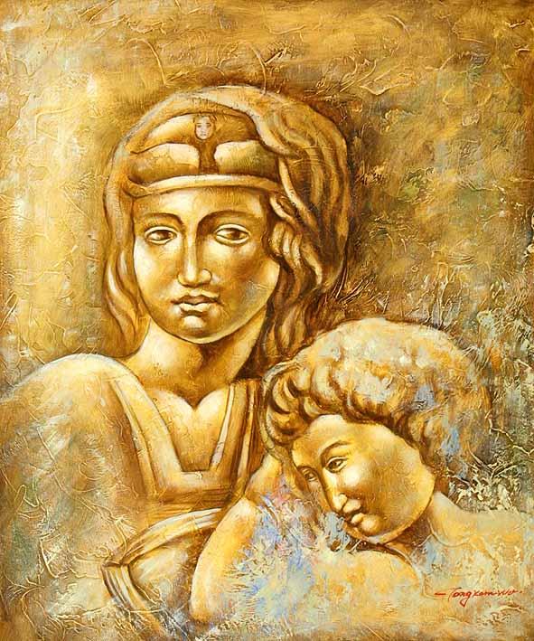 Roman Scuplture Mother & Child