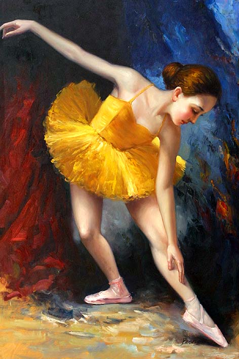 The Ballet Girl,oil paintings on canvas