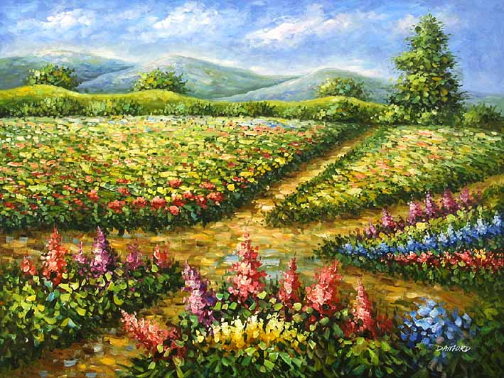 Flower Field oil paintings on canvas