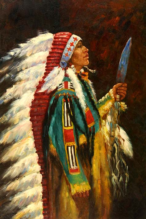 A Native American Fighter