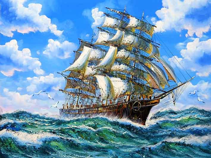 Clipper Crossing the Ocean