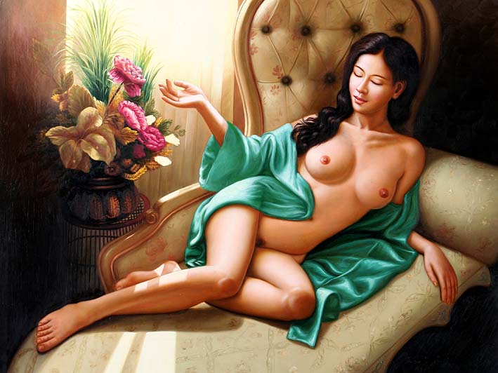 oil paintings on canvas, The Pampered One