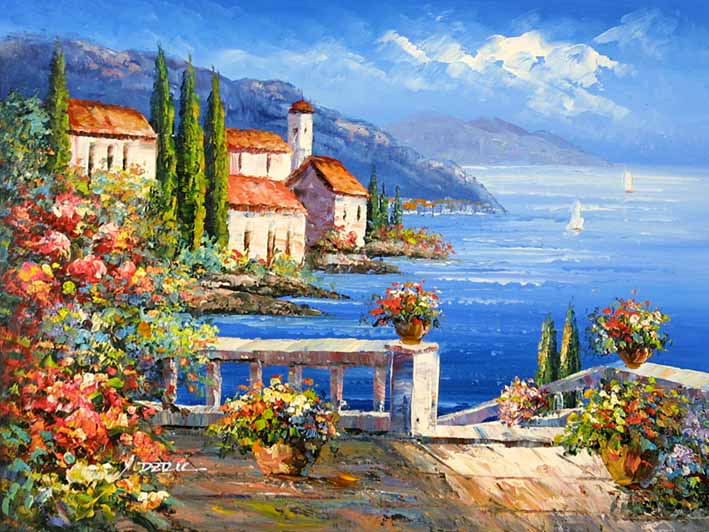 Mediterranean Impression,oil paintings from photos